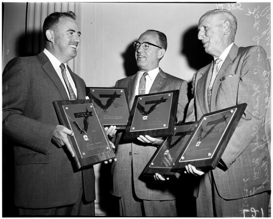 Traffic safety awards, 1958