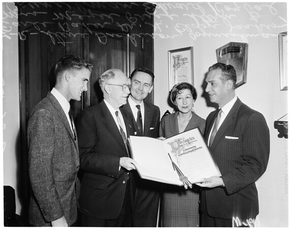 Community Coordinating Council resolution at City Hall, 1959