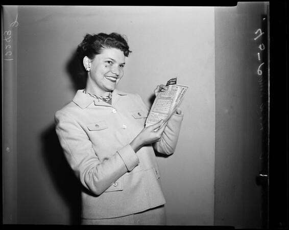 Keno winner, 1957