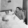 Wisconsin end has unexpected arrival (baby), 1959