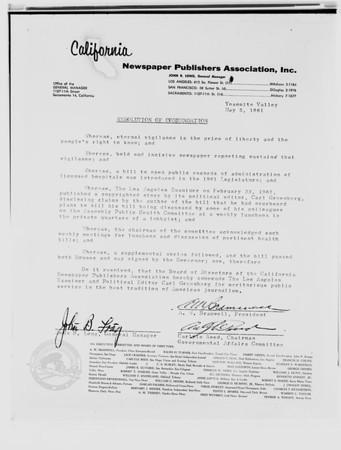 Letter copy, 1961