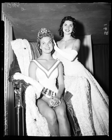 "Crowned ""Miss California"", 1957"