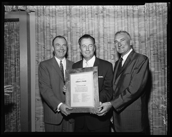 Morris testimonial luncheon, 1960