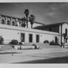 Angled shot of the Pasadena Public Library, ca. 1930