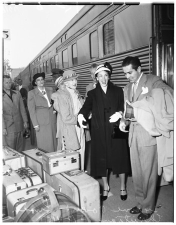 Mr. and Mrs. Tyrone Power arrival, 1951