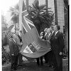 Canadian flag raising at City Hall, 1960
