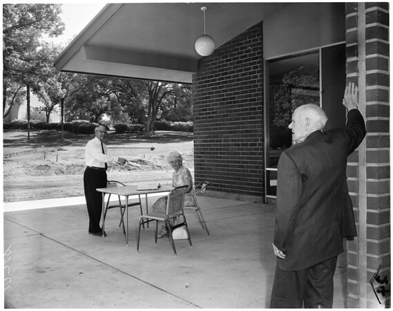Senior Center in Pasadena, 1960