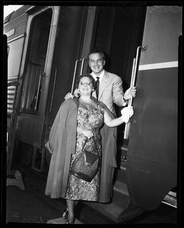 Brazzi arrival, 1957