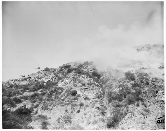 Fish Canyon brush fire, 1958