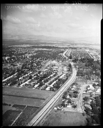 Air view of San Bernardino Valley, 1957