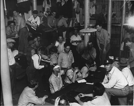 Crowded conditions in City Jail, 1930