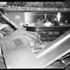 Car into bar at Figueroa and 5th Streets (Monarch Hotel Bar), 1957