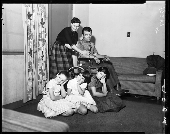 Ronnie Deauville and family, 1957