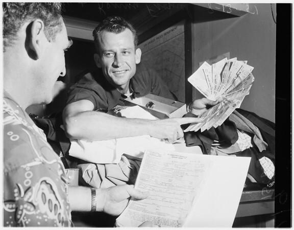 Burglar suspect, 1951