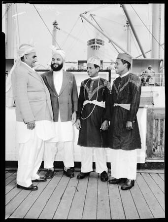 """Crewmen of Orient Pacific Line SS """"Himalya"""", 1958"""