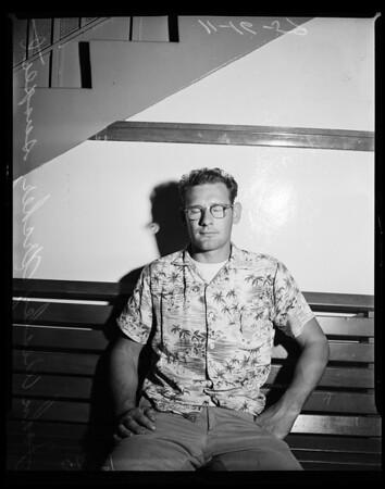 Garden Grove murder suspect (Harold Anderson), 1959
