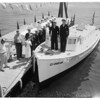 "Sea Explorers boat ""Ebbtide"" christened, 1960"