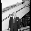 Councilman Cronk returns from Washington, D.C. and housing problems, 1952