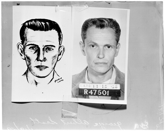 Suspect in murder of Kenneth Savoy in bar on Melrose, 1959