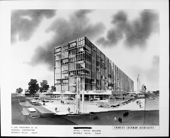Artist's conception of the Imperial Hotel in Beverly Hills