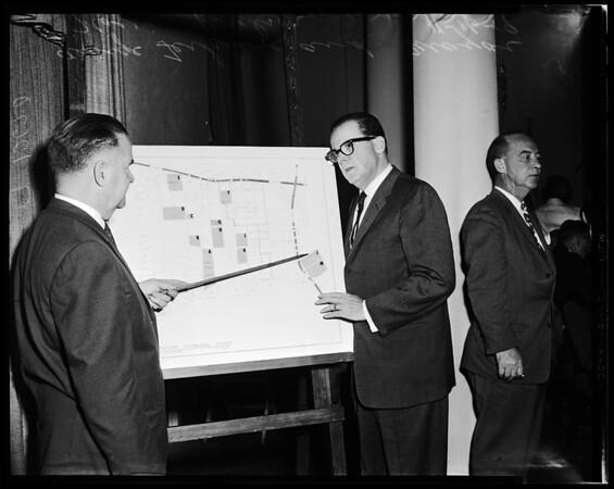 Los Angeles Transportation Center map, 1959