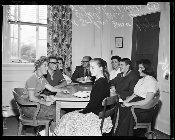Los Angeles High School science education, 1957