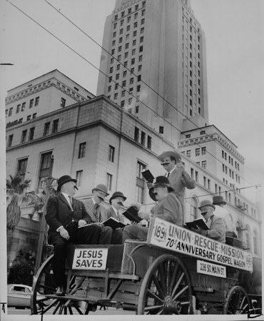 Union Mission Gospel Wagon, Los Angeles, 1961