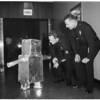 Halloween kid wanders into Los Angeles Police Station, 1961