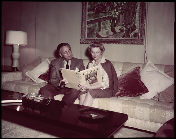 Marvin Leroy and wife, 1958