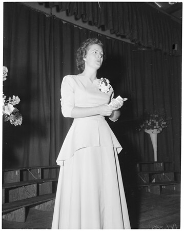 Pacific Bible College at Azusa, commencement exercises, 1952