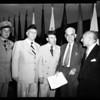 American Legion town hall dedication at Woodland Hills, 1952