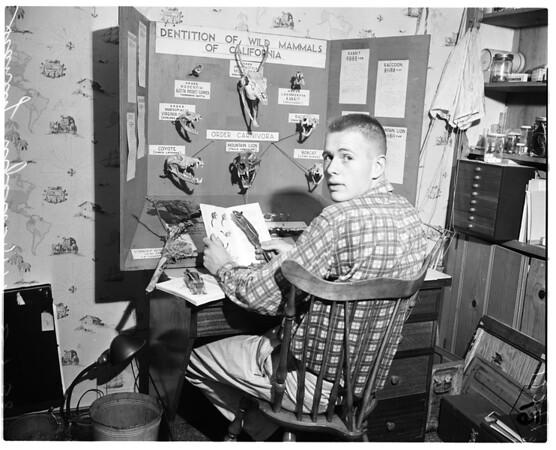 Science winner at John Muir High School in Pasadena, 1958