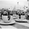 Football -- Rose Bowl teams at Disneyland, 1959