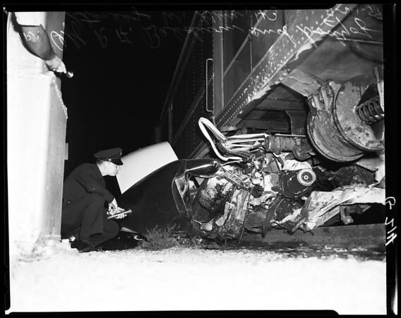 Auto Vs. train crash in Chatsworth, 1957