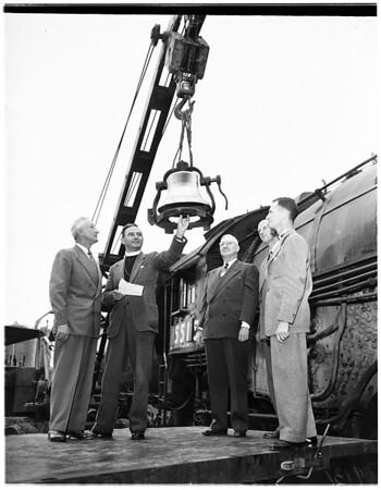Train bell, 1951