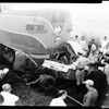 Train versus auto wreck at Valley Boulevard and Nogales Street, La Puente, 1958