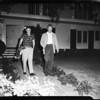 Barricade at 591 Garden Lane in Pasadena, 1957