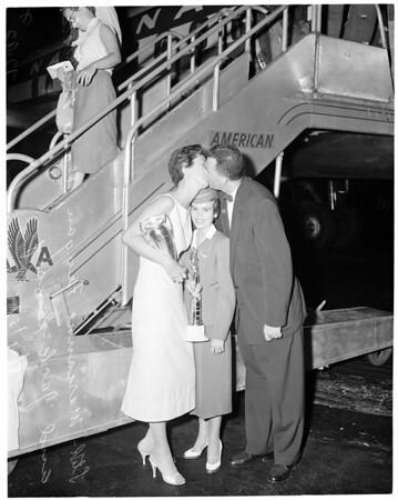 """""""Miss Tall America"""", 1957"""