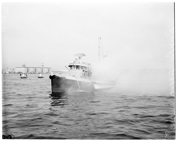 Boat fire (explosion), 1957