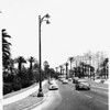 Eastward view of Wilshire Boulevard, at the intersection of Commonwealth Avenue