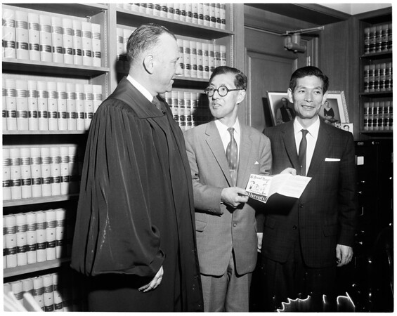 Japanese judge visitor, 1960