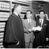 Japanese judge visitor, 1960