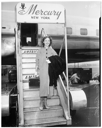 Screen star here from New York, 1952