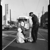 Woman hit by truck at 100 South Westmoreland, 1958