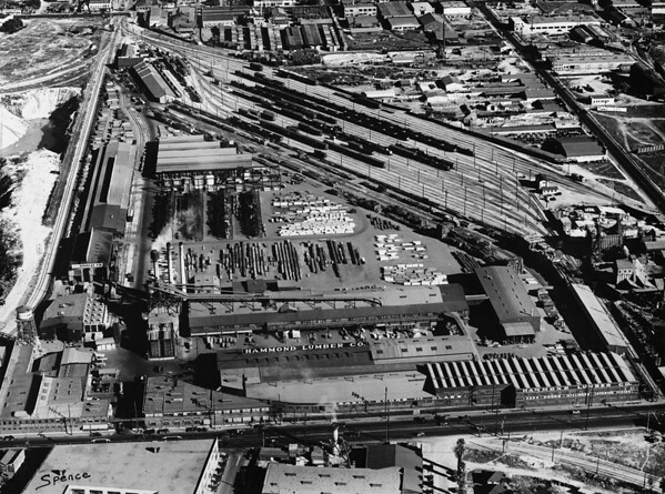 Aerial shot of the Los Angeles Panorama Industrial Section