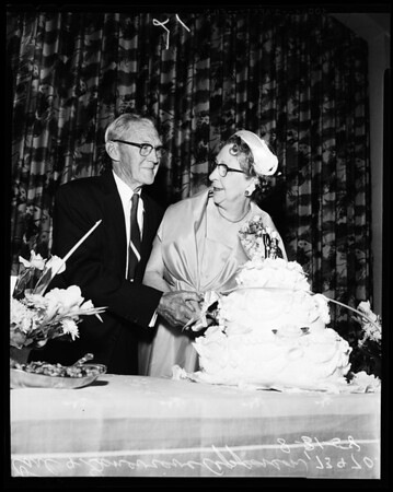 Fiftieth wedding anniversary, 1958