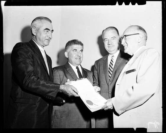 Fire prevention award, 1958