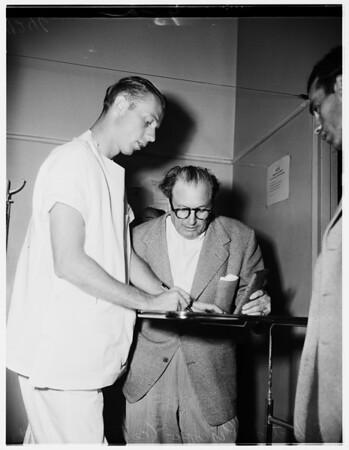 Gangster suspect (Georgia Street Hospital), 1951