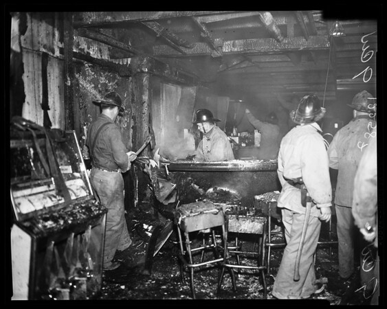 Fire at Royal Room Hollywood and Las Palmas, 1957