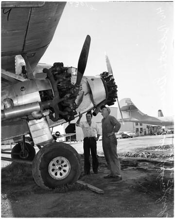 Ford tri-motor plane, 1958